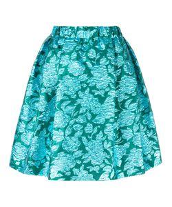 MSGM | Roses Jacquard Skirt 42 Polyamide/Polyester Fibre