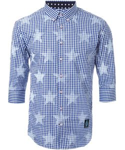 GUILD PRIME   Star Print Checked Shirt