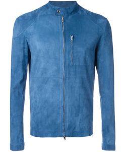 SALVATORE SANTORO | Zipped Leather Jacket 50 Sheep Skin/Shearling