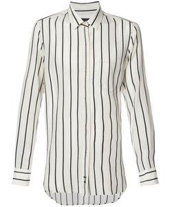 Ann Demeulemeester | Рубашка В Полоску С Потайной Застежкой