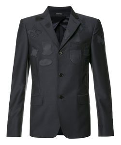 Alexander McQueen | Patched Blazer Jacket 52 Viscose/Cotton/Wool