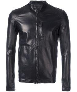 SALVATORE SANTORO | Zipped Leather Jacket 48 Sheep Skin/Shearling
