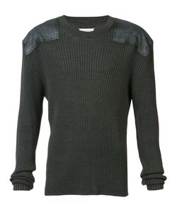 Maison Margiela | Rib Pullover With Shoulder Patches Size Large