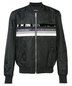 Diesel | Printed Stripe Bomber Jacket