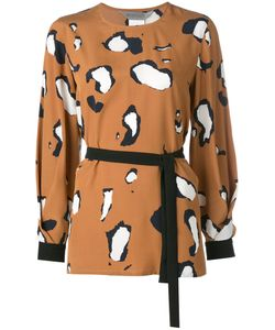 SportMax   Printed Long Sleeve Blouse Size 44