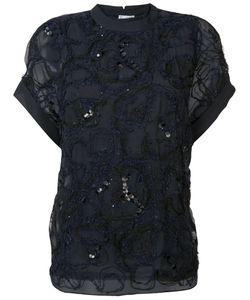 Brunello Cucinelli   Lace Detail Top Size Xs