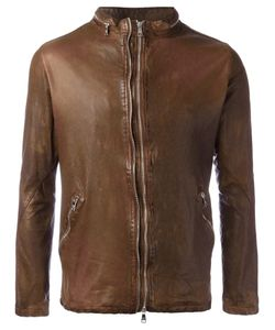 Giorgio Brato | Classic Leather Jacket 48 Leather/Nylon/Cotton