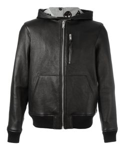 Alexander McQueen | Hooded Bomber Jacket 48 Leather