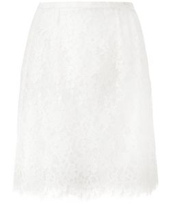 Ermanno Scervino | Lace Pleat Skirt 42 Cotton/Polyamide/Polyester/Silk