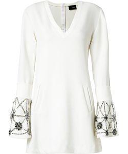 Andrea Bogosian | Embroidered Flare Dress