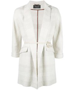 Loro Piana | Belted Blazer Medium Silk/Linen/Flax/Lamb Skin