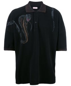 PALM ANGELS | Snake Print Polo Shirt Xs Cotton