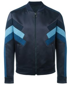 Neil Barrett | Panelled Bomber Jacket Large Polyamide/Acetate/Cotton/Viscose