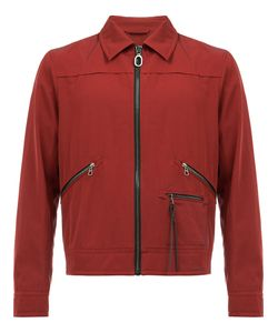 Lanvin | Zipped Bomber Jacket 46 Cotton/Calf Leather/Viscose