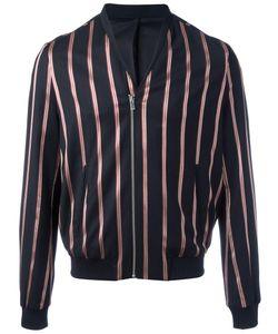 The Kooples | Striped Bomber Jacket Large Polyester/Wool/Spandex/Elastane/Cotton