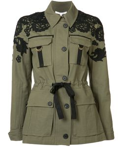 Veronica Beard | Drawstring Fitted Jacket 2 Cotton