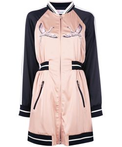 Red Valentino | Embroidered Bomber Dress
