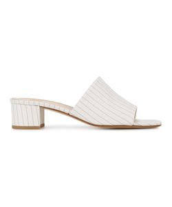 Maryam Nassir Zadeh | Pinstripe Slide Sandals Silk