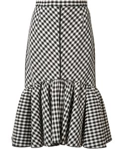 TOME | Pleated Trim Checked Skirt