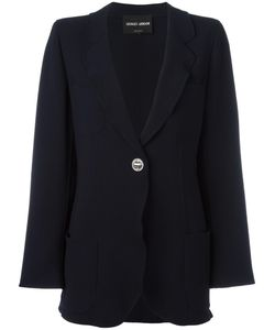Giorgio Armani | Two Button Blazer 46 Silk/Spandex/Elastane/Virgin Wool
