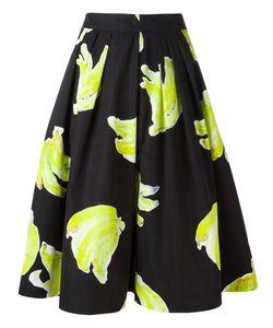 MSGM | Print Pleated Skirt 40 Cotton