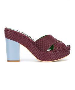 Danielapi | Embossed Platform Sandals Size 40