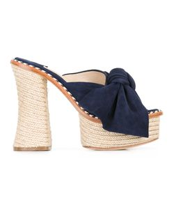 Paloma Barceló | Monaco Sandals 40 Leather/Suede/Straw