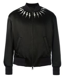 Neil Barrett | Lightning Bolt Bomber Jacket Medium Polyamide/Acetate/Viscose/Cotton