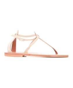 K. Jacques | Buffon Flat Sandals 39 Leather