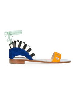 Paula Cademartori | Lace Fastening Sandals 38 Calf Leather/Leather