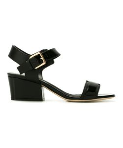Sergio Rossi | Ankle Length Sandals 38 Calf Leather/Bos