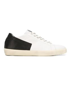 Leather Crown | Perforated Contrast Detail Sneakers 42 Leather/Rubber