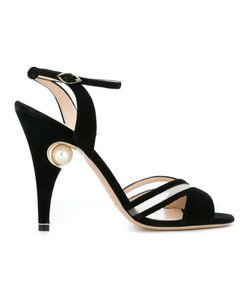 Nicholas Kirkwood | 105mm Penelope Cross-Strap Sandals 39 Leather/Suede/Nylon
