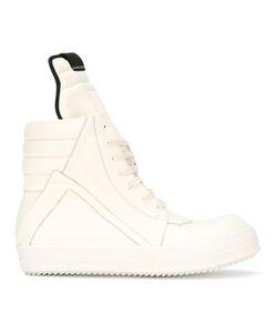 Rick Owens   Lace-Up Hi Top Sneakers 42 Calf