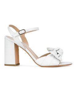 Fratelli Rossetti | Twist-Detailed Block Heel Sandals 38 Leather/Rubber