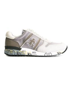 PREMIATA WHITE | Premiata Lander Sneakers 43 Suede/Leather/Neoprene/Rubber