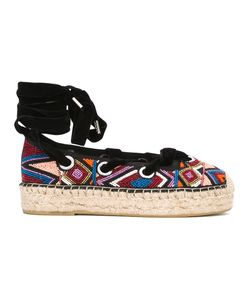 Ash | Beaded Lace-Up Espadrilles 38