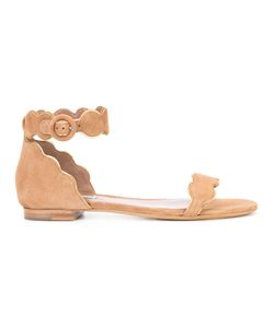 Tabitha Simmons | Pearl Sandals 37 Suede/Leather
