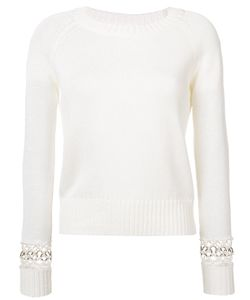 A.L.C. | Perforated Sleeves Knitted Top .