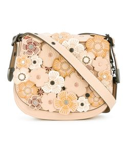 COACH | Flower Embellished Crossbody Bag Leather/Metal Other