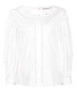 Carolina Herrera   Eyelet Blouse 0 Cotton/Polyurethane