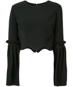 CHRISTIAN SIRIANO | Scalloped Cropped Blouse