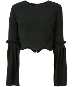 CHRISTIAN SIRIANO   Укороченная Блузка С Расклешенными Рукавами