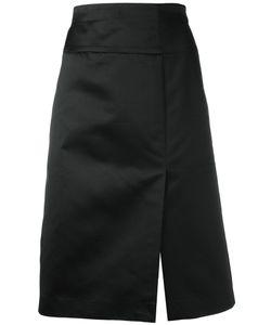 Celine Vintage   Céline Vintage Satin Side Slit Skirt Size