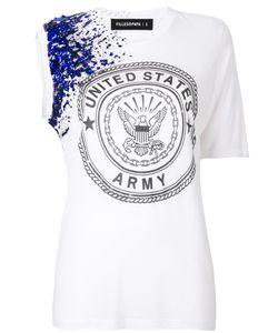 Filles A Papa | Asymmetric Embellished T-Shirt