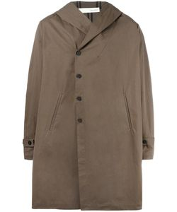 Isabel Benenato | Hooded Coat 46 Cotton