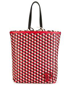 Emilio Pucci | Geometric Pattern Frilled Shoulder Bag