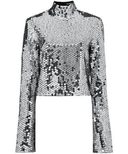 Filles A Papa | Sequin Embellished Top With Bell Sleeves