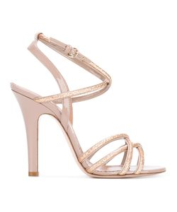 Red Valentino | Glitter Sandals 38 Leather/Patent Leather/Pvc