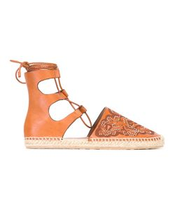 Red Valentino | Studded Hummingbird Espadrilles 36 Calf Leather/Leather/Rubber